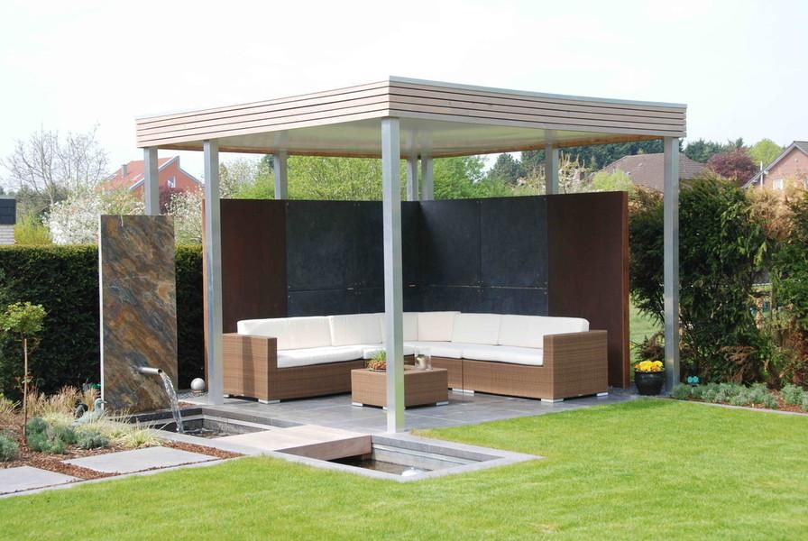Richter Garten, Gartenarchitektur - Hausgarten mit Pavillon und ...