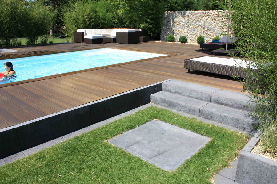 garten mit pool. Black Bedroom Furniture Sets. Home Design Ideas