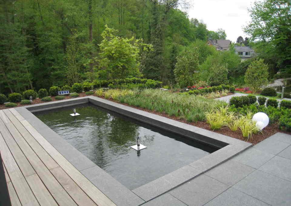 richter garten, gartenarchitektur - hausgarten mit teich, Garten Ideen