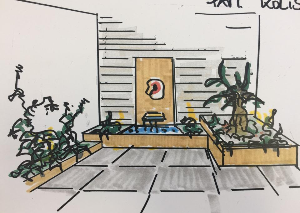 Richter Garten, Gartenarchitektur